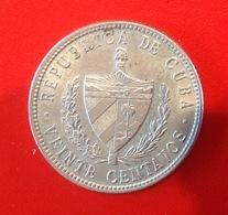 Monnaie. 23. Cuba. Veinte Centavos. 5G. 1949 - Cuba