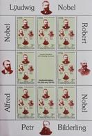 Turkmenistan 1994 Nobel Miniature Sheet Eight + Label - Turkmenistan