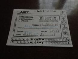 BIGLIETTO AST ABBONAMENTO 10 CORSE - BORGETTO-PARTINICO - 1992 - Abbonamenti