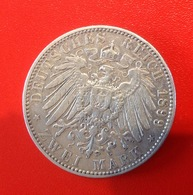 Monnaie. 24. Prusse. 5 Mark. Wilhelm Kaiser. 1899. Argent - [ 2] 1871-1918 : German Empire