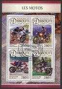{D01} Djibouti 2016 Motorcycles Sheet Used / CTO - Djibouti (1977-...)