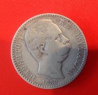 Monnaie. 25. Umberto I. 2 Lire. 1883. Argent - 1861-1946 : Kingdom