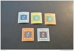 F6362- Set  MNH UAR-Egypt- 1965-SC. J60-64- Postage Due - Egypt