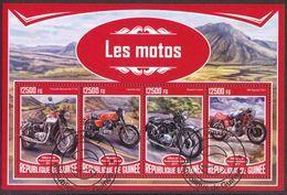 {G43} Guinea 2017 Motorcycles Sheet Used / CTO - Guinea (1958-...)