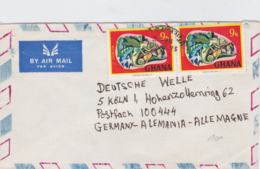 Ghana Airmail Posted 1973 To Germany - Stamps With Animals (T11-23) - Ghana (1957-...)