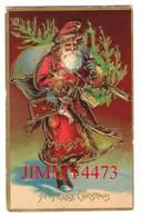 POST CARD Gaufrée - A Merry Christmas - Canada - Christmas