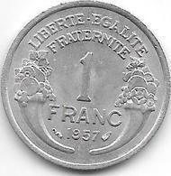 France 1 Franc 1957  Km 885a.1 Xf+ - Francia
