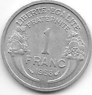 *france 1 Franc 1958  Km 885a.1 Xf+ - Francia