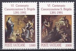 Vatikan Vatican 1991 Religion Christentum Persönlichkeiten Heilige Brigitta Orden Schweden Sweden Jesus, Mi. 1038-9 ** - Ungebraucht