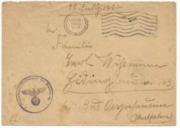 """R185 - SS FELDPOST Du 28 Février 1944 De RIGA Vers L'Allemagne - Tampon """"TRUPPENWIRTSCHAFTSLAGER DER WAFFEN SS """" - Briefe U. Dokumente"""