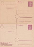 ALLEMAGNE    ENTIER POSTAL/GANZSACHE/POSTAL STATIONERY  LOT DE 2 CARTE - Ganzsachen