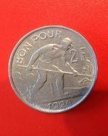 Monnaie. 27. Luxembourg. Bon Pour Deux Francs 1924. - Luxembourg