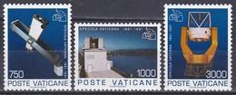 Vatikan Vatican 1991 Wissenschaft Science Astronomie Astronomy Sternwarte Observatory Teleskop Astrograph, Mi. 1040-2 ** - Ungebraucht