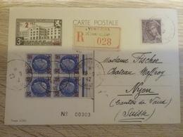 Cpa De L'exposition De  Propagande Philatélique  Foire De Lyon Septembre 1942 - Storia Postale