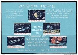 ESPACE - COREE DU SUD  -  BLOC N° 162 ** (1969)  APOLLO 11 - Space