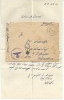 R188 - Feldpost 25402 Du 12 Février 1941 Avec Correspondance - Tampon Illustrée Croix SS Et Palmier - - Germany