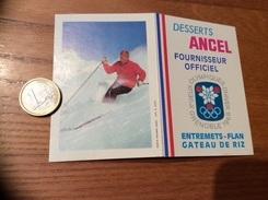 Calendrier 1968 «DESSERT ANCEL Jeux Olympiques GRENOBRE 1968 / PHOTO HOLMES LEBEL (ski)» - Calendriers