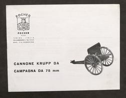 Modellismo Militare Pocher Istruzioni Montaggio Cannone Krupp Da Campagna C / 04 - Libri, Riviste, Fumetti