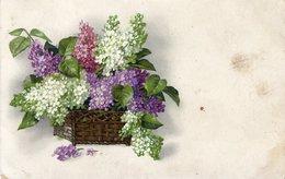 Fliederstrauss -Grußkarte Ostern ? - 1910 ? - Feiern & Feste