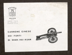 Modellismo Militare Pocher Istruzioni Montaggio Cannone Cinese Dei Forti C / 05 - Libri, Riviste, Fumetti