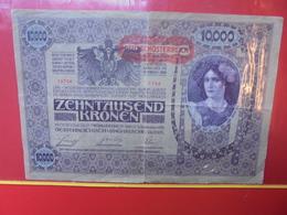 AUTRICHE 10.000 KRONEN 1918 CIRCULER - Austria