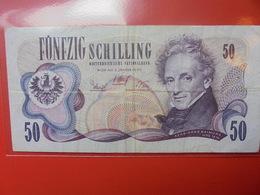 AUTRICHE 50 SCHILLING 1970 CIRCULER - Autriche