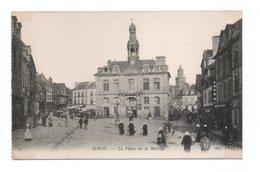 - CPA AURAY (56) - La Place De La Mairie (belle Animation) - Photo Neurdein N° 1 - - Auray