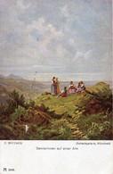 C. Spitzweg - Sennerinnen Auf Einer Alm - Ca 1910 - Malerei & Gemälde