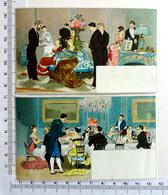 2 CHROMOS LITHOGRAPHIES  .....DESSINS DE RÉCEPTION - Vieux Papiers