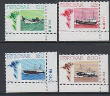 Faroe Islands 1977 Fishing Ships 4v (corners) ** Mnh (42806D) - Faeroër