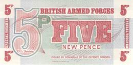 5 Five New Pence UNC - Forze Armate Britanniche & Docuementi Speciali