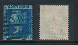 GB, 1858 2d Blue SG45, Plate 9, Cat £15 Used, Corner Letters  HH - Gebruikt