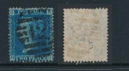 GB, 1858 2d Blue SG45, Plate 9, Cat £15 Used, Corner Letters  HG - Gebruikt