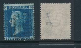 GB, 1858 2d Blue SG45, Plate 9, Cat £15 Fine Used, Corner Letters  SC - Gebruikt