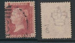 GB, 1864 1d Red SG43, Plate 140 VFU, Corner Letters PE - Gebruikt