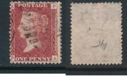 GB, 1864 1d Red SG43, Plate 145 VFU, Corner Letters PA - Gebruikt