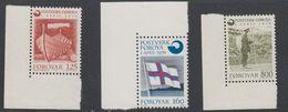 Faroe Islands 1976 Gründung Färoischen Postwesen 3v (corners) ** Mnh (42806D) - Faeroër