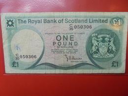 SCOTLAND 1 POUND 1972-81 CIRCULER - Ecosse