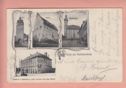 OLD  POSTCARD -   GERMANY - DEUTSCHLAND -    GRUSS AUS MAINBERNHEIM - GASTHOF BRAUEREI Z. GOLD. LOEWEN - Kitzingen