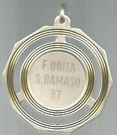 San Damaso 1987, Festa Dell'Unità, Politica, Giornali,  Mist. Dorata, Gr. 20, Cm. 5. - Italy
