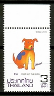 Thailand 2018 Tailandia / Chinese Year Of The Dog MNH Año Del Perro Hunde  / Cu12437  29 - Año Nuevo Chino