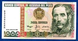 Pérou  - 1000 Intis  28/6/1988   - Pick # 136    - état UNC - - Pérou