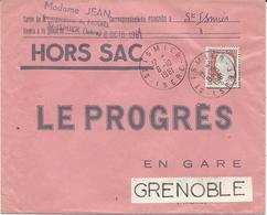 ENVELOPPE HORS SAC 1961 AVEC TIMBRE A 0,25 FR MARIANNE DE DECARIS - Storia Postale