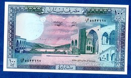 Liban  - 100 Livres    - Pick # 66   - état SUP  -  Trace D écriture - Lebanon