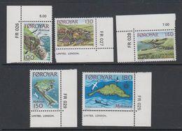 Faroe Isands 1978 Mykenes 5v (corners) ** Mnh (42806G) - Faeroër