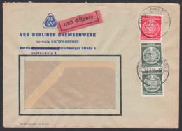 Berlin-Lichtenberg Eil-Dienstpostbrief BPP Gepr. Berliner Bremsenwerk Knorr-Bremse, Weisswasser SoSt. Glaserzeugung - [6] Democratic Republic