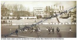 RUGBY : PHOTO (1954) LA FRANCE BAT L'ANGLETERRE (11-3) A COLOMBES, ESSAI DE JEAN PRAT APRES UN SERVICE DE BAULON, MIAS.. - Rugby