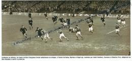 RUGBY : PHOTO (1954) LA FRANCE BAT LES ALL BLACKS (3-0) A COLOMBES, DUFAU, MARTINE, HAGET, BONIFACE, CAZENAVE, PRAT - Rugby