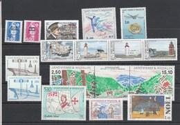 Saint Pierre Et Miquelon 1992 Yvert  N°  555 Et 556 + 558 à 566 + 568A + 569 à 571  ** - St.Pierre & Miquelon