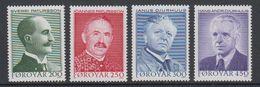 Faroe Islands 1984 Writers 4v ** Mnh (42806I) - Faeroër